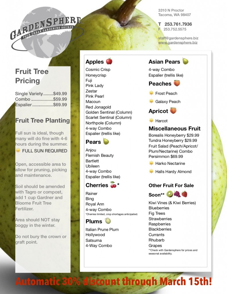 Fruit Tree Selections 2019